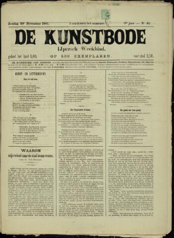 De Kunstbode (1880 - 1883) 1881-11-20