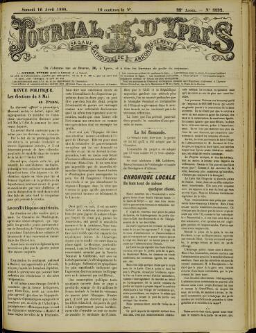 Journal d'Ypres (1874 - 1913) 1898-04-17
