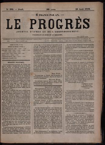 Le Progrès (1841-1914) 1879-08-28