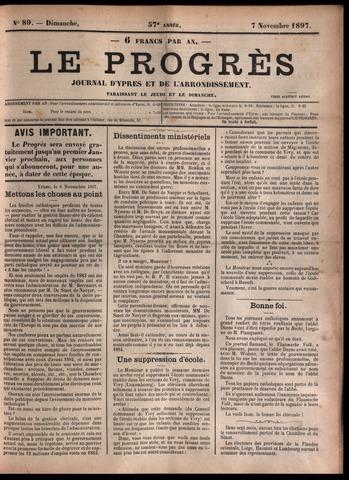 Le Progrès (1841-1914) 1897-11-07