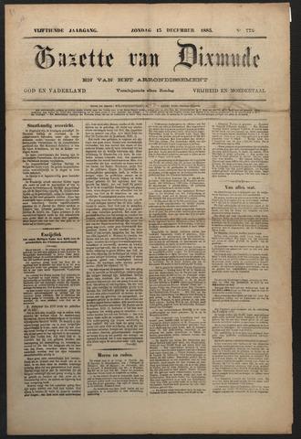 Gazette van Dixmude 1885-12-13