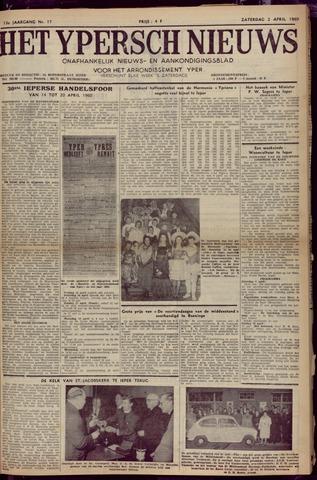 Het Ypersch nieuws (1929-1971) 1960-04-02
