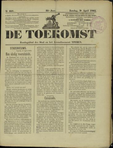 De Toekomst (1862 - 1894) 1892-04-03