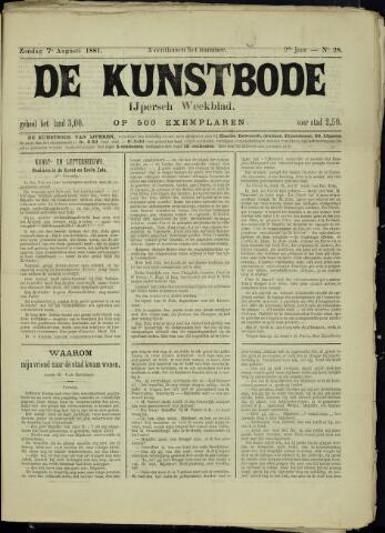 De Kunstbode (1880 - 1883) 1881-08-07