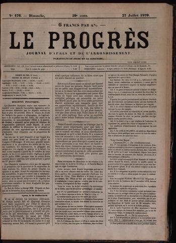 Le Progrès (1841-1914) 1879-07-27
