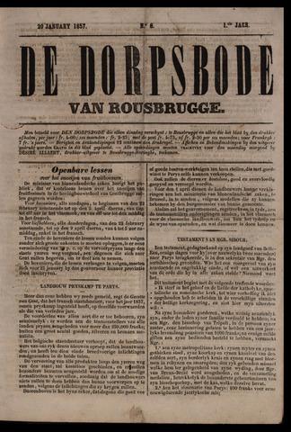 De Dorpsbode van Rousbrugge (1856-1857 en 1860-1862) 1857-01-20