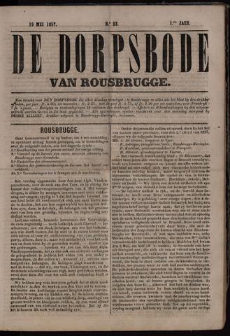 De Dorpsbode van Rousbrugge (1856-1857 en 1860-1862) 1857-05-19