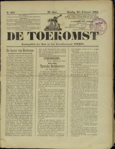 De Toekomst (1862 - 1894) 1892-02-21