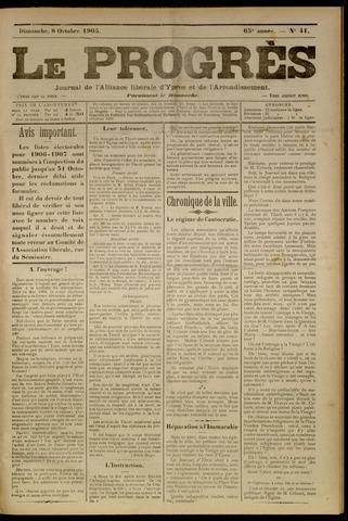Le Progrès (1841-1914) 1905-10-08