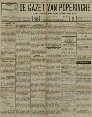 De Gazet van Poperinghe  (1921-1940) 1930-07-27