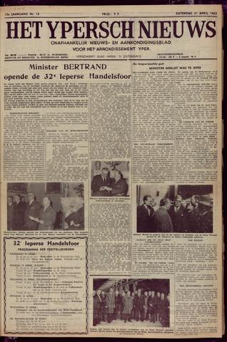 Het Ypersch nieuws (1929-1971) 1962-04-21
