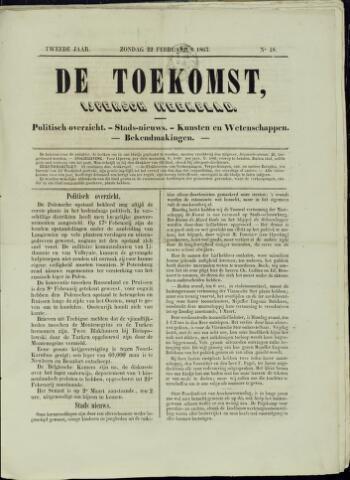 De Toekomst (1862 - 1894) 1863-02-22