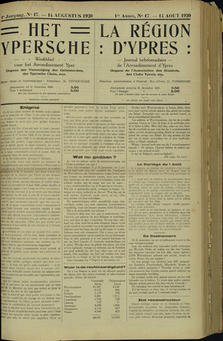 Het Ypersche (1925 - 1929) 1920-08-14