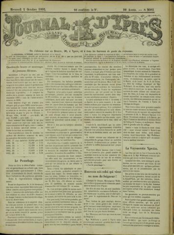 Journal d'Ypres (1874 - 1913) 1895-10-02