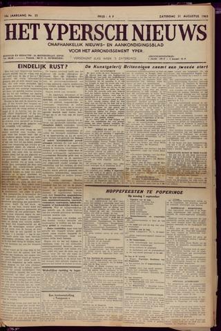 Het Ypersch nieuws (1929-1971) 1963-08-31