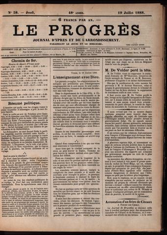Le Progrès (1841-1914) 1888-07-19