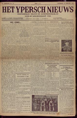 Het Ypersch nieuws (1929-1971) 1962-02-24