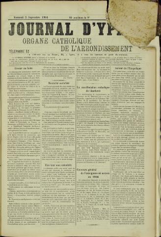 Journal d'Ypres (1874 - 1913) 1906-09-05