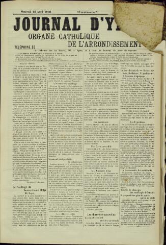 Journal d'Ypres (1874 - 1913) 1906-04-25