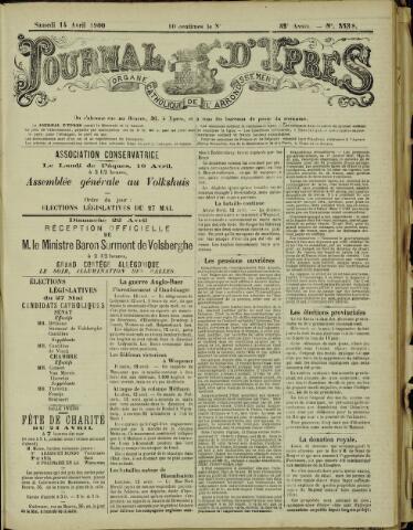 Journal d'Ypres (1874 - 1913) 1900-04-14