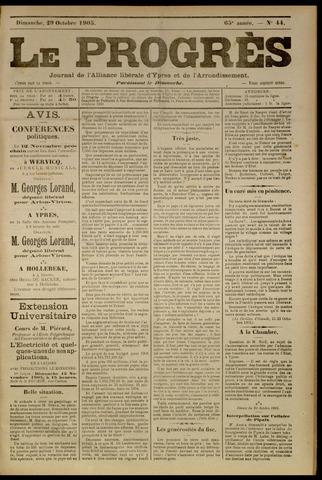 Le Progrès (1841-1914) 1905-10-29