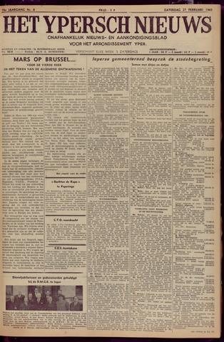 Het Ypersch nieuws (1929-1971) 1965-02-27