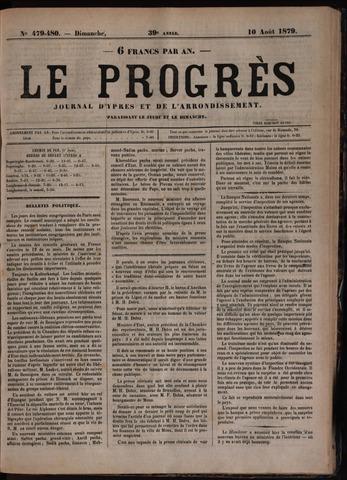 Le Progrès (1841-1914) 1879-08-10