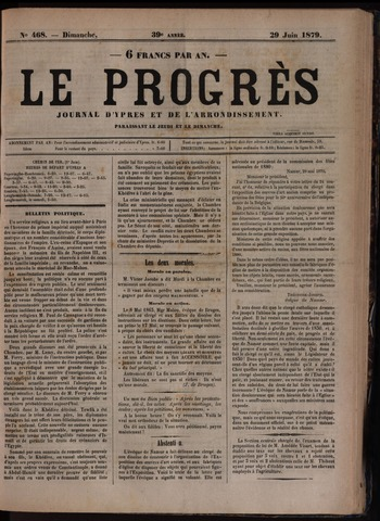 Le Progrès (1841-1914) 1879-06-29