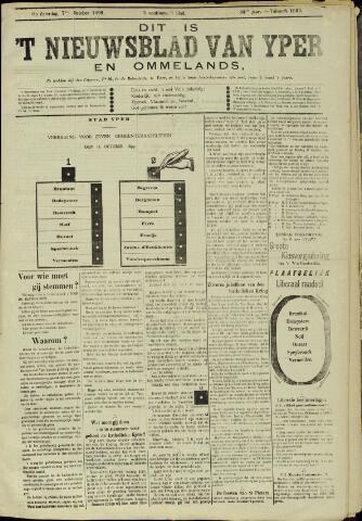 Nieuwsblad van Yperen en van het Arrondissement (1872 - 1912) 1899-10-07