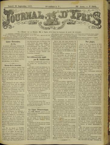 Journal d'Ypres (1874 - 1913) 1897-09-25