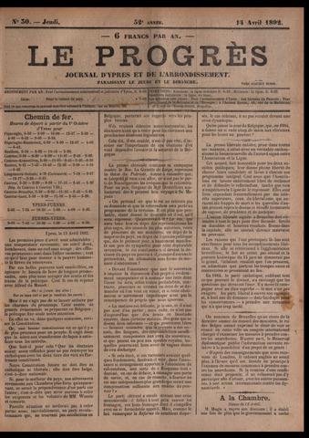Le Progrès (1841-1914) 1892-04-14
