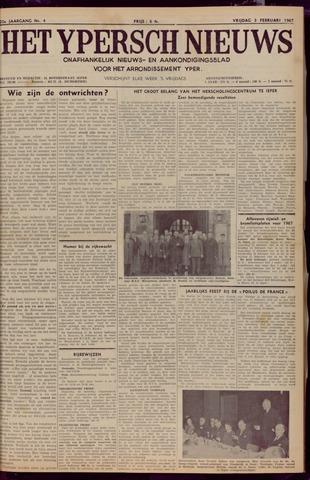 Het Ypersch nieuws (1929-1971) 1967-02-03
