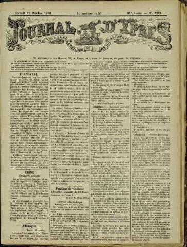 Journal d'Ypres (1874 - 1913) 1900-10-27