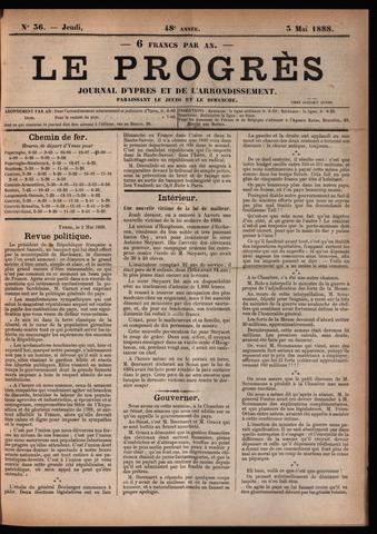 Le Progrès (1841-1914) 1888-05-03
