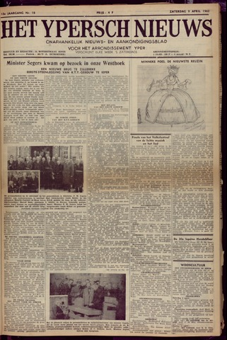 Het Ypersch nieuws (1929-1971) 1960-04-09