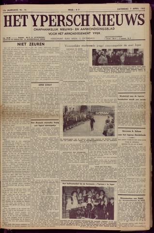 Het Ypersch nieuws (1929-1971) 1962-04-07
