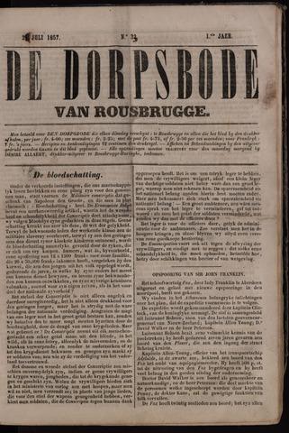 De Dorpsbode van Rousbrugge (1856-1857 en 1860-1862) 1857-07-28
