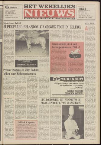 Het Wekelijks Nieuws (1946-1990) 1984-03-30