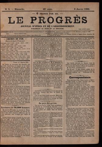 Le Progrès (1841-1914) 1888-01-08