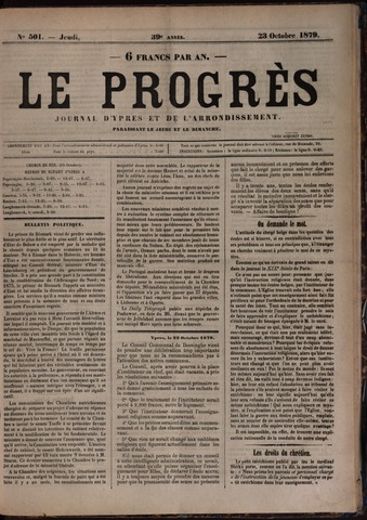 Le Progrès (1841-1914) 1879-10-23