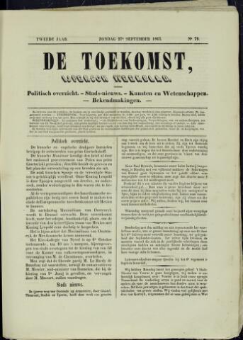 De Toekomst (1862 - 1894) 1863-09-27