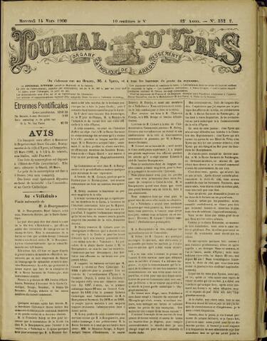 Journal d'Ypres (1874 - 1913) 1900-03-14