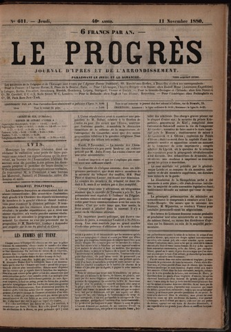 Le Progrès (1841-1914) 1880-11-11