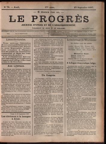Le Progrès (1841-1914) 1897-09-23