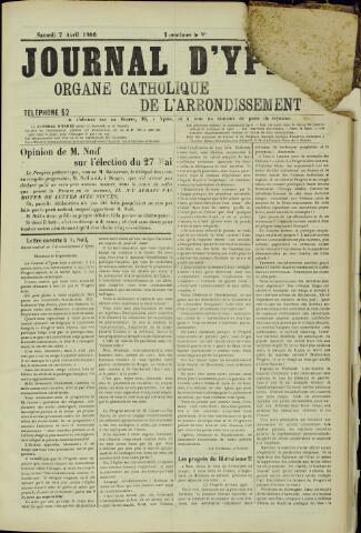 Journal d'Ypres (1874 - 1913) 1906-04-07