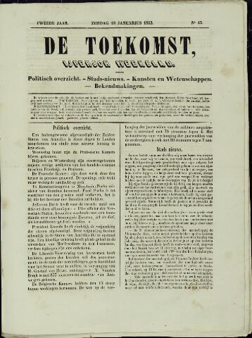 De Toekomst (1862 - 1894) 1863-01-18