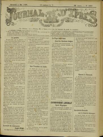 Journal d'Ypres (1874 - 1913) 1898-05-04