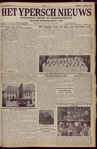 Het Ypersch nieuws (1929-1971) 1967-04-07