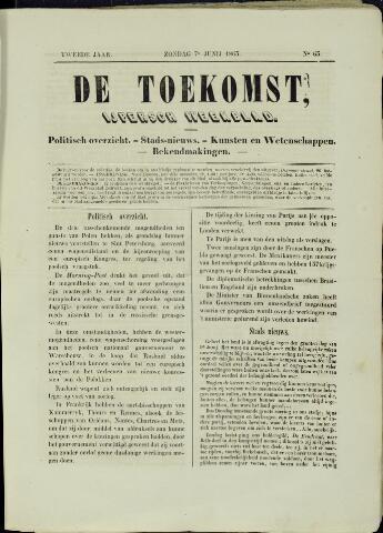 De Toekomst (1862 - 1894) 1863-06-07