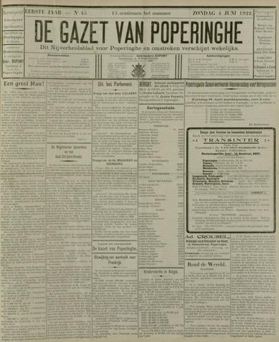 De Gazet van Poperinghe  (1921-1940) 1922-06-04